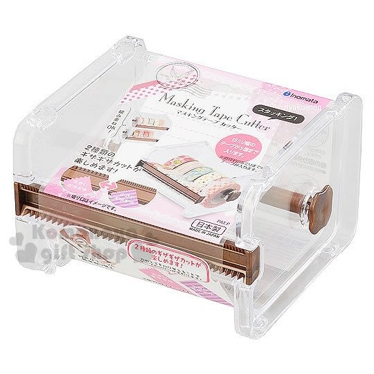 〔小禮堂〕INOMATA 日製 紙膠帶收納盒《透明.壓克力》 4905596-41218
