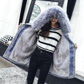 牛仔外套冬季牛仔外套棉襖女裝新款加絨加厚學生寬鬆韓版中長款棉衣潮 一件免運
