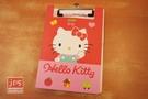 Hello Kitty 凱蒂貓 PP板夾附便條紙 揮手 紅 958851