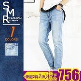 牛仔褲-輕刷痕淺牛仔褲-經典百搭淺牛仔《99985997》淺藍色【現貨+預購】『SMR』