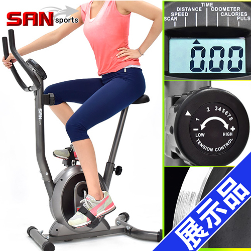 (展示品)經典立式磁控健身車(室內腳踏車自行車.飛輪車飛輪式美腿機.運動健身器材.推薦哪裡買)