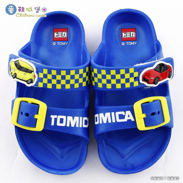 童鞋城堡-小車車輕量戶外拖鞋 Tomica多美小汽車 TM1820 藍