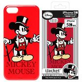 ★APP Studio★【日本iJacket】Disney迪士尼正式授權 iPhone5C PC硬質保護殻《紳士米奇》