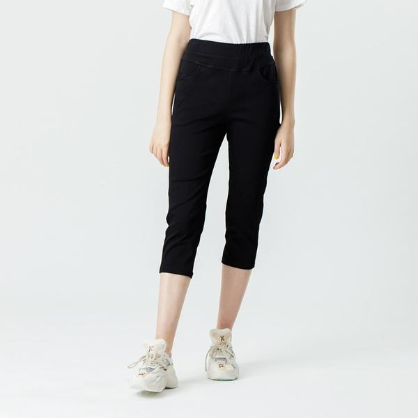 【中大尺碼】MIT超彈顯瘦後織帶中褲