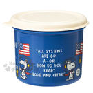 〔小禮堂〕史努比 日製保鮮盒《藍.米黃蓋...