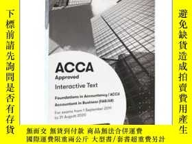 二手書博民逛書店ACCA罕見Accountant in Business f1教
