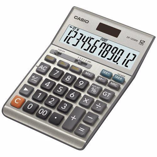 【破盤價】CASIO 卡西歐 DF-120BM 商用12位數桌上型計算機 / 台