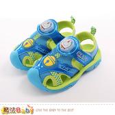男童鞋 哆啦A夢授權正版護趾閃燈運動涼鞋 魔法Baby