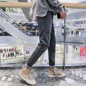 冬季男士新款韓版潮流小腳褲學生個性帥氣百搭錐形褲休閒褲子 雲雨尚品