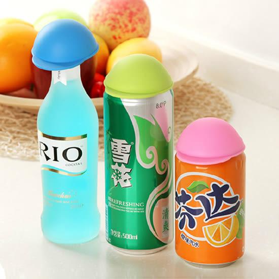 ♚MY COLOR♚帽子造型密封蓋 易開罐 飲料 果汁 防塵 汽水 可樂 保鮮 鐵罐 鋁罐 廚房【G72】