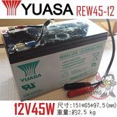 YUASA湯淺REW45-12攝影機電源.攝影燈光電源.電動玩具產品.測定機器.血壓計.電動椅