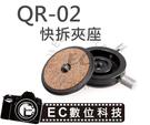 【EC數位】FOTOMATE QR02 QR-02 水平旋轉 單腳架 快拆雲台 快拆板 環景雲台
