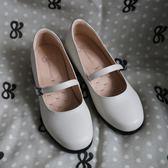 除舊迎新 古一字帶搭扣制服鞋娃娃鞋仙女小皮鞋