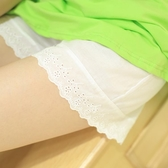 純棉鏤空花邊打底褲薄款防走光安全褲大碼家居短褲【聚寶屋】
