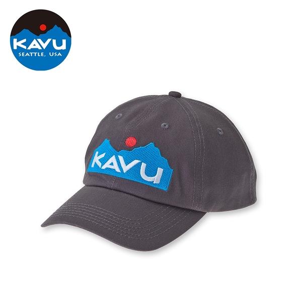 【西雅圖 KAVU】No Comb Required 刺繡彎沿棒球帽 碳黑 #1041