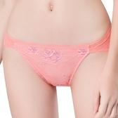 思薇爾-撩波系列M-XXL蕾絲低腰三角內褲(蔓玫橘)