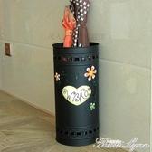 鐵藝創意圓形置物雨傘架家用時尚客廳金屬落地式卡通放雨傘桶 雙十二全館免運