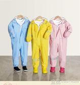雨衣 輕巧 BigOrange兒童寶寶幼兒園小學生男童女童連體雨衣雨褲套裝2-3-6歲 99免運 宜品居家
