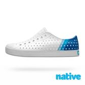 native JEFFERSON 奶油頭 男鞋 女鞋 晴雨鞋 藍色夏威夷-9218