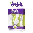 【英國Doddl】 人體工學設計 嬰幼兒學習餐具組(三件組)-綠