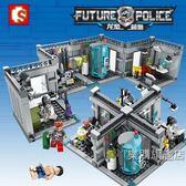 組裝積木兼容樂高拼裝組裝積木玩具小顆粒龍怒超警生化試驗室建筑人仔男孩