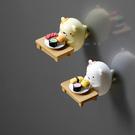 情侶小熊貓咪冰箱貼 磁貼卡通可愛磁力貼吸...