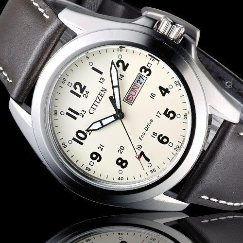星辰 CITIZEN 光動能復古豪傑時尚腕錶 AW0050-15A
