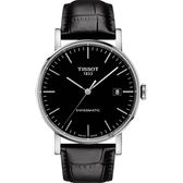TISSOT 天梭 Everytime 魅時系列機械錶-黑/40mm T1094071605100