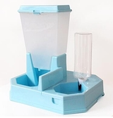 寵物餵食器 大容量貓狗通用自動飲水機二合一貓碗喂食器【快速出貨好康八折】
