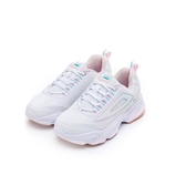 FILA CRYSTAL SKYLINE 女款閃光粉白運動慢跑鞋-NO.5J027U153