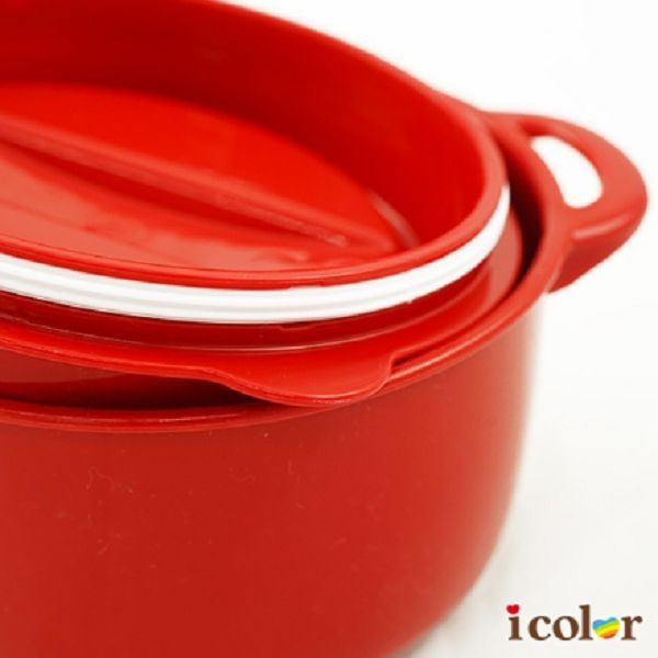 icolor 日本製 新鑄鐵鍋造型保存容器(LL)