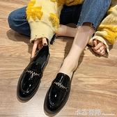 小皮鞋女英倫風單鞋百搭韓版女鞋ins潮春季新款粗跟網紅鞋子
