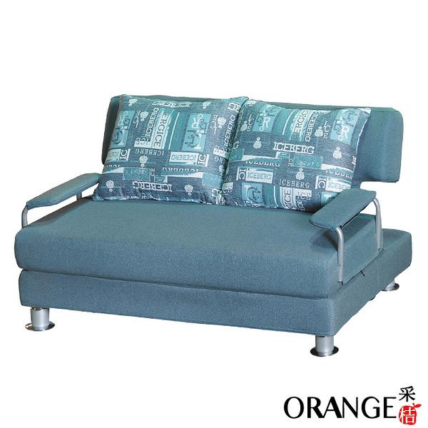 【采桔家居】歐都納  時尚灰棉麻布多功能沙發/沙發床(拉合式機能設計)