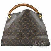 茱麗葉精品 二手精品【9成新】Louis Vuitton LV M40249 經典花紋手工單柄肩背包