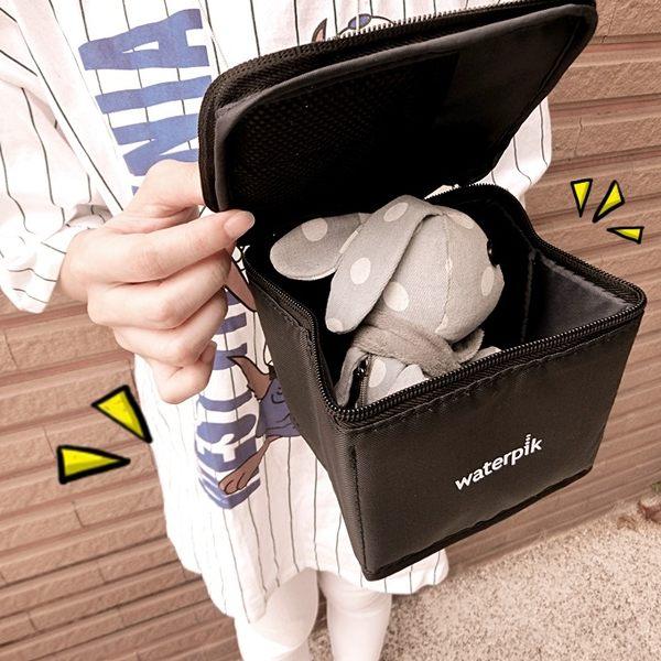 《花花創意会社》美國waterpik黑色輕巧洗漱化粧包【H4596】