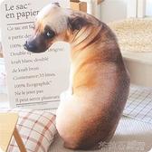 毛絨玩具 創意仿真狗狗抱枕3d毛絨玩具動物公仔大號布娃娃可愛女生睡覺玩偶 茱莉亞