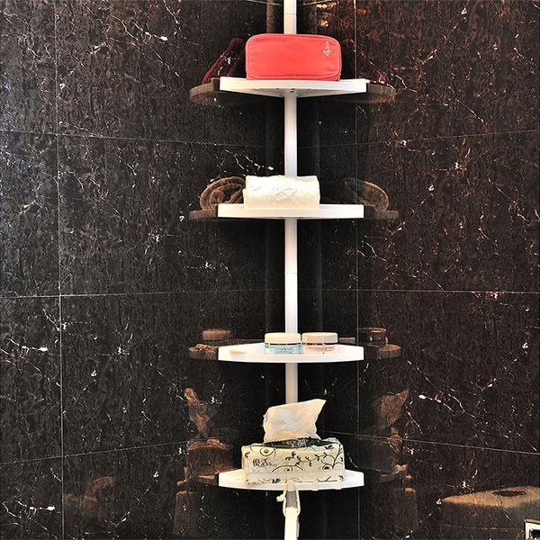 【ikloo】 頂天立地角落多功能伸縮四層置物架