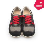 【A.MOUR 經典手工鞋】ACE運動饅頭-紅黑 / 氣墊鞋 / 平底鞋 / 進口牛皮 / 超軟饅頭鞋/ DH-2001