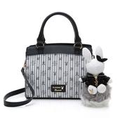 PLAYBOY- 手提包附長背帶 龐克兔系列-黑色