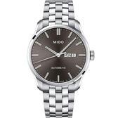 MIDO美度 Belluna Gent 經典日期機械錶-灰x銀色/42mm M0246301106100