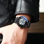 男士手錶 2019新款正品男士手表男全自動機械表潮流學生新概念防水鏤空名牌