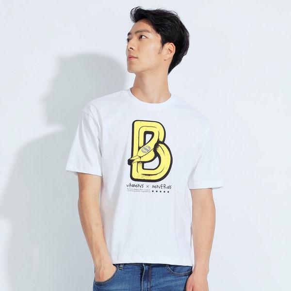 【101原創】台灣製.Banana短版圓領寬鬆T恤上衣(男)-7604016