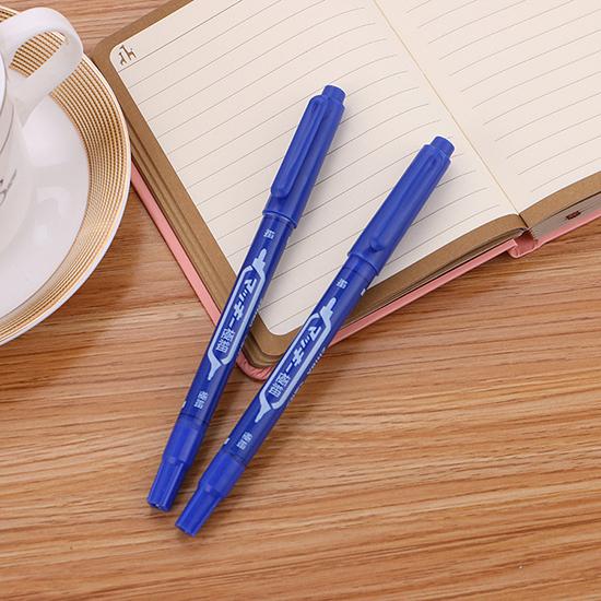 奇異筆 簽字筆 油性筆 速乾筆 紅筆 速乾 藍筆 記號筆 油性 黑筆 雙頭簽字筆【S030】慢思行