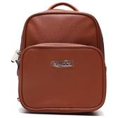 KANGOL 咖啡紅 皮革 後背包 小包  (布魯克林) 6955320402