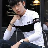 韓版男裝翻領polo衫 打底上衣長袖T恤【非凡上品】cx278