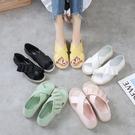 果凍鞋兩穿涼鞋女2021年新款夏季仙女風百搭舒適軟平底涼拖鞋外穿 依凡卡時尚
