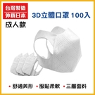 ◤台灣製造.外銷日本◢ 三層防護 3D彈性全罩式防護 成人款 100片入/屈臣氏/小三美日/康是美