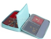 證件收納包盒家用家庭多層大容量多功能箱檔案文件護照卡包整理袋 小城驛站