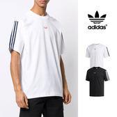 【GT】Adidas Originals 黑白 短袖T恤 純棉 運動 休閒 素色 上衣 短T 愛迪達 基本款 三葉草 三條線 Logo