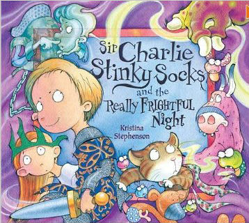 【麥克書店】SIR CHARLIE STINKY SOCKS AND THE REALLY FRIGHTFUL NIGHT /英文繪本+CD